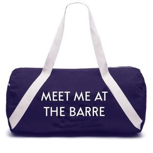 """Handbags - Private Party """"Meet Me at the Barre"""" gym bag"""