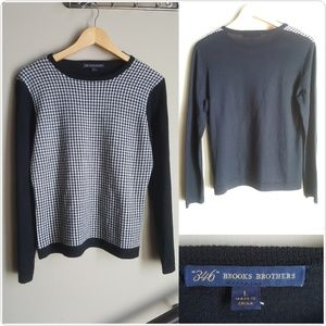 Brooks Brothers Houndstooth Sweater