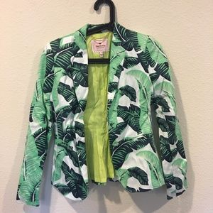Juicy Couture Jackets & Coats - Juicy Couture green palm leaf blazer