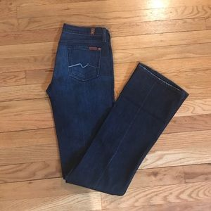 7 for all man kind Dark wash Bootcut Jeans