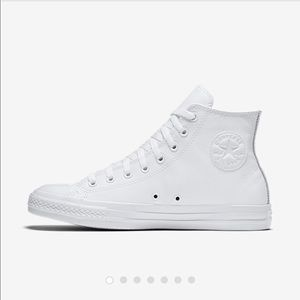 ALL WHITE LEATHER HIGH TOPS
