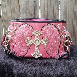 Montana West Shoulder Bag Rhinestone Cross Bling