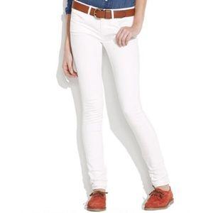 Madewell skinny skinny jeans in white