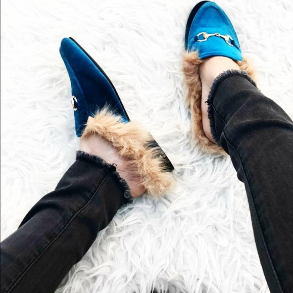 0e97dbef675 Loafers slides with faux fur insole