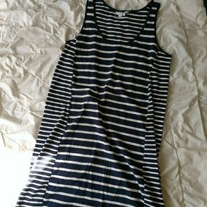 Boden blue and white striped sleeveless dress