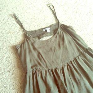AE Olive Green Babydoll Dress