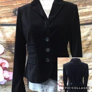 🌞NEW🌞 Size 4 Loft Brand Black Velvet Blazer