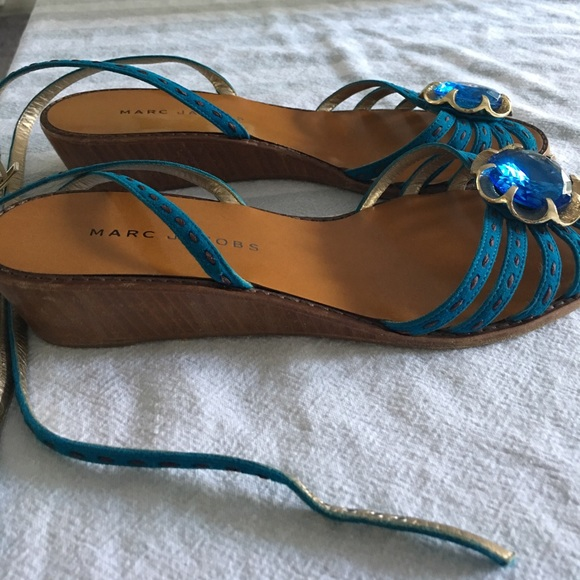 8445f9278562 ... Blue Gold Jewel Sandals 39 8.5. M 59c43513a88e7d41aa0268b5