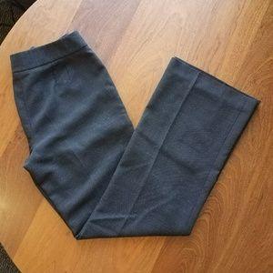 LOFT Dark Gray Wool Blend Trousers