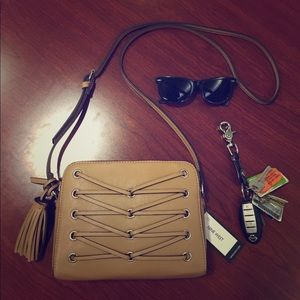 Nine West Laced-Up Crossbody Bag