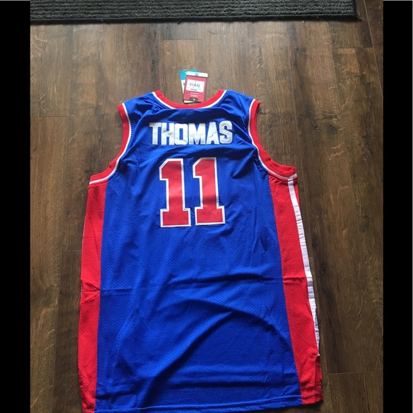 sports shoes 9006c c22df Isiah Thomas #11 PISTONS THROWBACK NWT