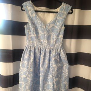 Beautiful blue and white vintage-inspired dress.
