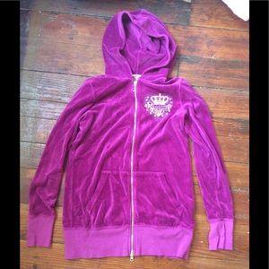 Juicy couture velour jacket size L