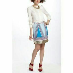 Isani for Anthropologie Sz 4 Sequined mini skirt