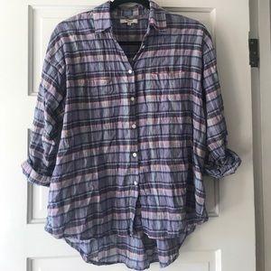 Madewell Summer Flannel Plaid Shirt