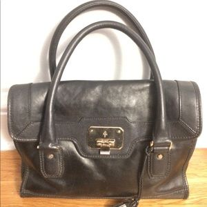 Black Leather Cole Haan Purse