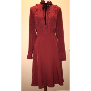 Eloquii Ruffle Shirtdress with Velvet Detail Sz 18