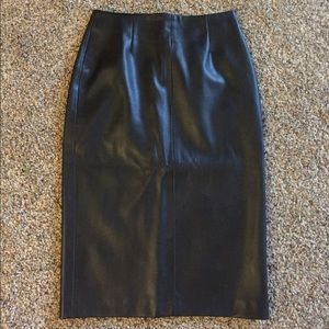 Zara Leather Knee Skirt