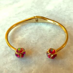 Kate Spade Gold & Red Gem Bracelet