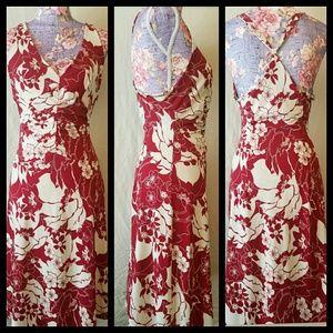 BCBG MAXAZRIA Dress Red Floral Size Medium