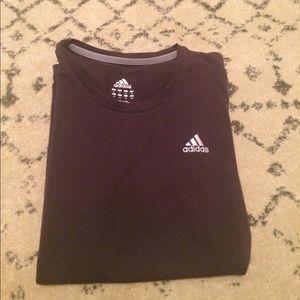 Plum Adidas Athletic short sleeve w/stitched Logo