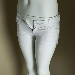 Pants - Abercrombie & Fitch White Aesthetic Shorts