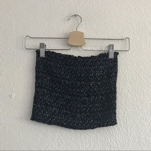 Brandy Melville Cleo navy floral tube top