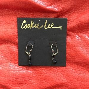 Cookie Lee Earrings - Silver & Black