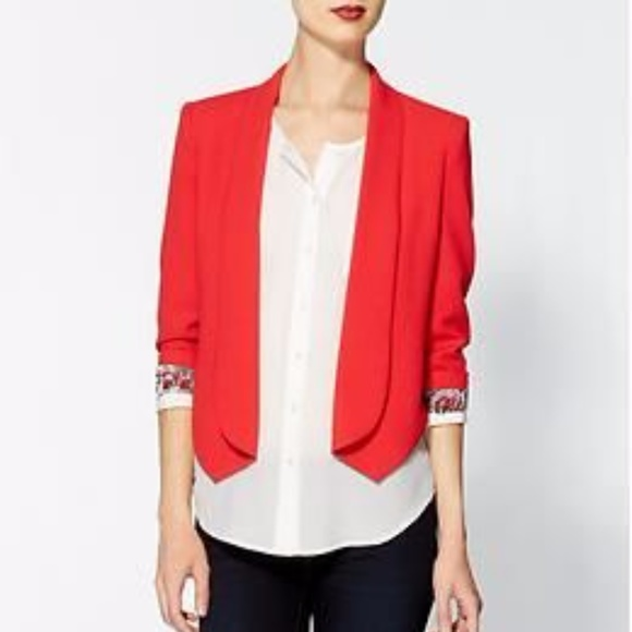 Aryn K Jackets & Blazers - Aryn K red tailored blazer