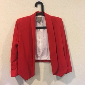 Aryn K Jackets & Coats - Aryn K red tailored blazer