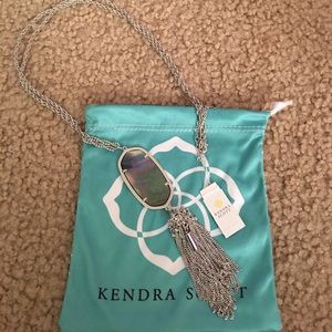 Kendra Scott Silver Iridescent Gray Rayne Necklace