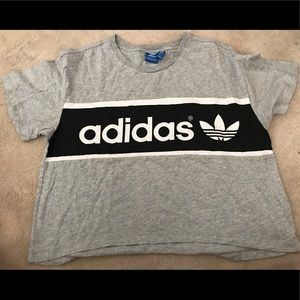 ❌HOLD❌ Adidas Medium Gray Crop Top Tee