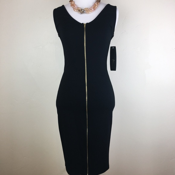 8ead5000f682 Minette Dresses | Little Black Front Zipper Christmas Holiday Dress ...