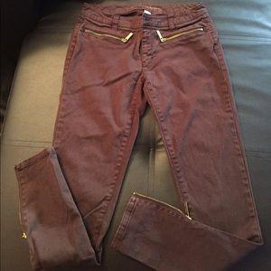 Michael Kors Dark Brown Skinny Jeans Sz 2