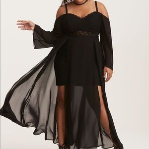 Torrid New With Tag Lace Bustier Maxi Dress