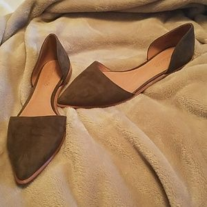 Madewell D'orsay Flats in Suede