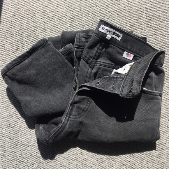7f77eb82be5 RE DONE black high rise ankle crop size 25. M 59c43b4af0137d6a06027a75