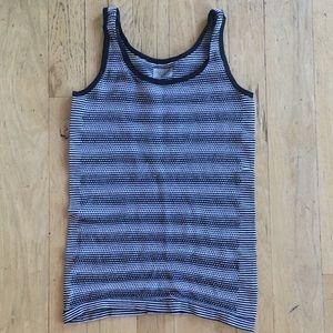 Black and white striped mesh athleta tank top