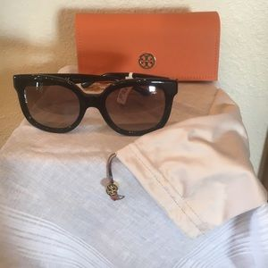 Authentic Tory Burch TY 7104 Blk  / Dark Brown