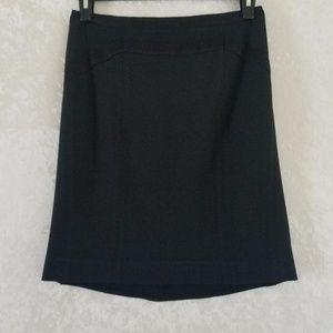 DVF Black Skirt Size 4 Wool Blend