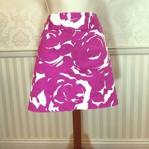 NWT J. Crew Abstract Pink & White Mini Skirt