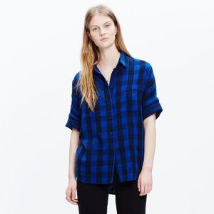 Madewell Blue Courier Shirt In Buffalo Check XXS