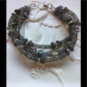 Labradorite Triple-Strand Bracelet