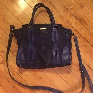 Rebecca Minkoff blue suede handbag