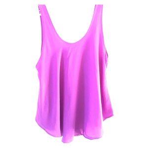 Lush purple tank top blouse