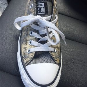 Converse Gold and Black Sneakers