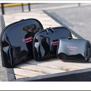 Chanel VIP cosmetic makeup pouch beauty travel set