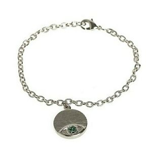 House of Harlow Evil Eye Silver Plated Bracelet