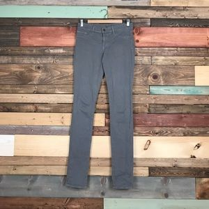 J Brand Pencil Leg Skinny Jeans Grey Flannel 28