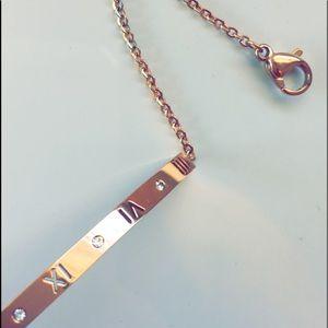 Titanium plated rose gold bracelet